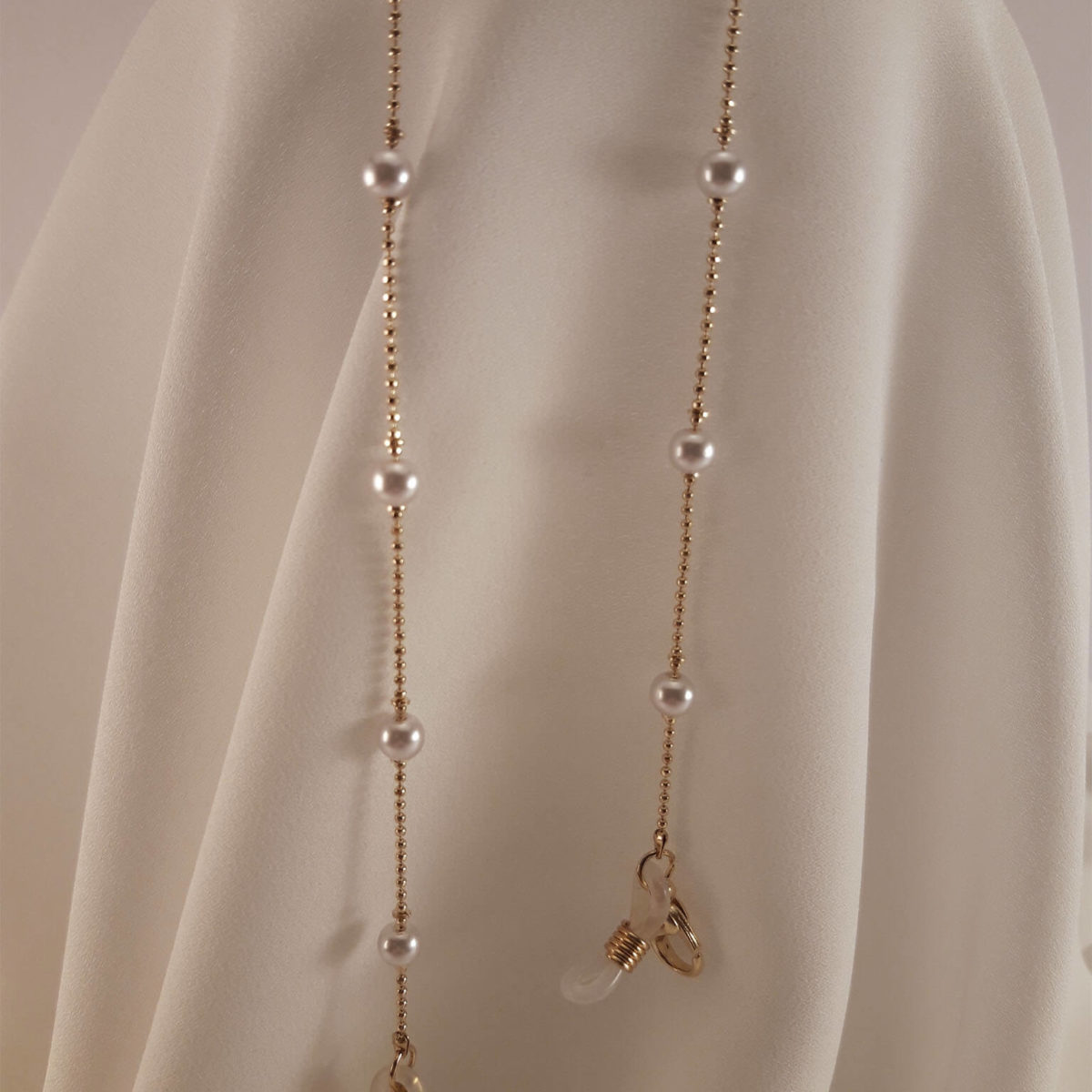 Golden Chain With Small Pearls