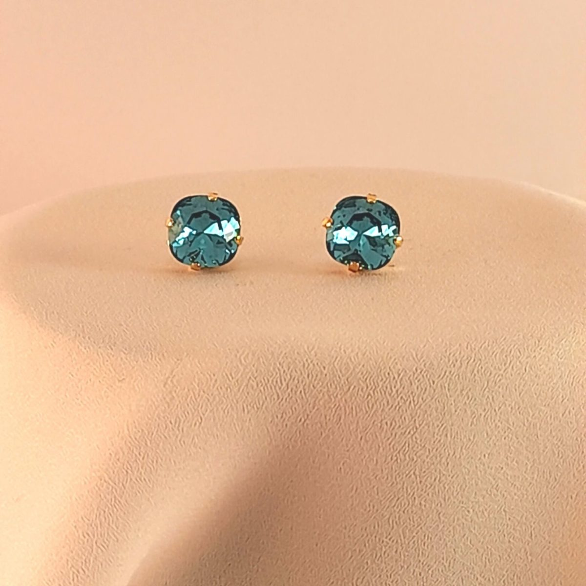 Stud Earrings With A Turquoise Stone