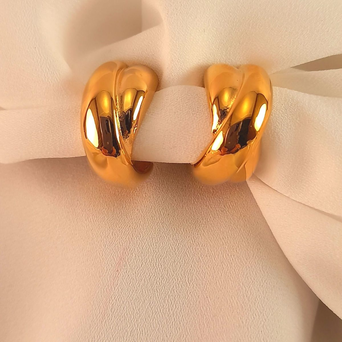 Earrings With Gold Clip