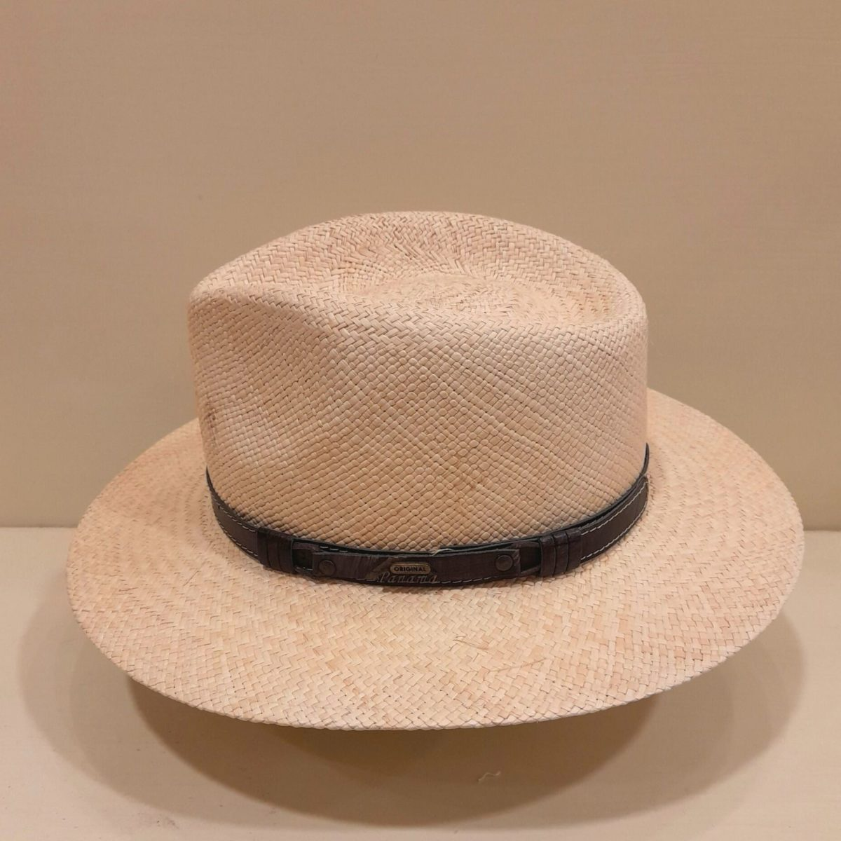 Panama Hat With Leather Strap