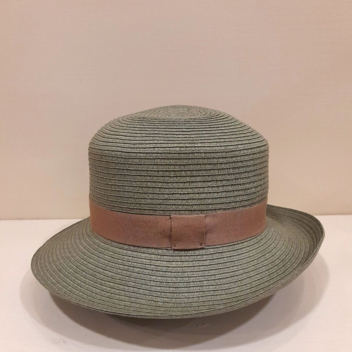 Green Hat And Brown Ribbon