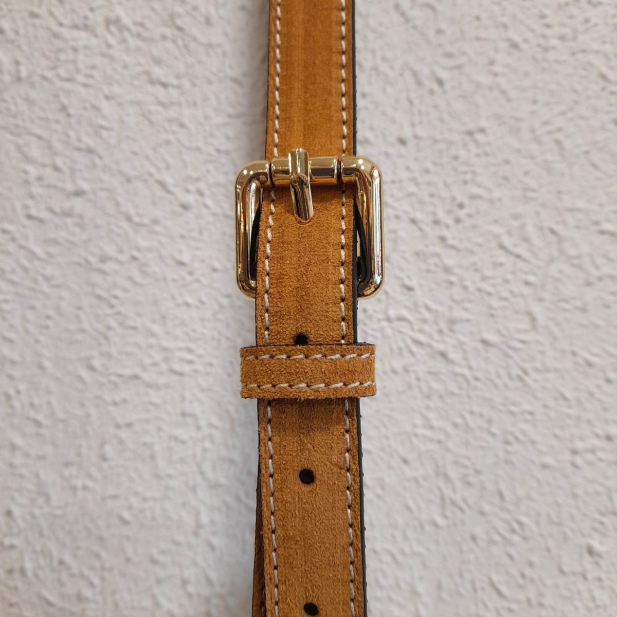 Narrow Mustard-colored Leather Belt